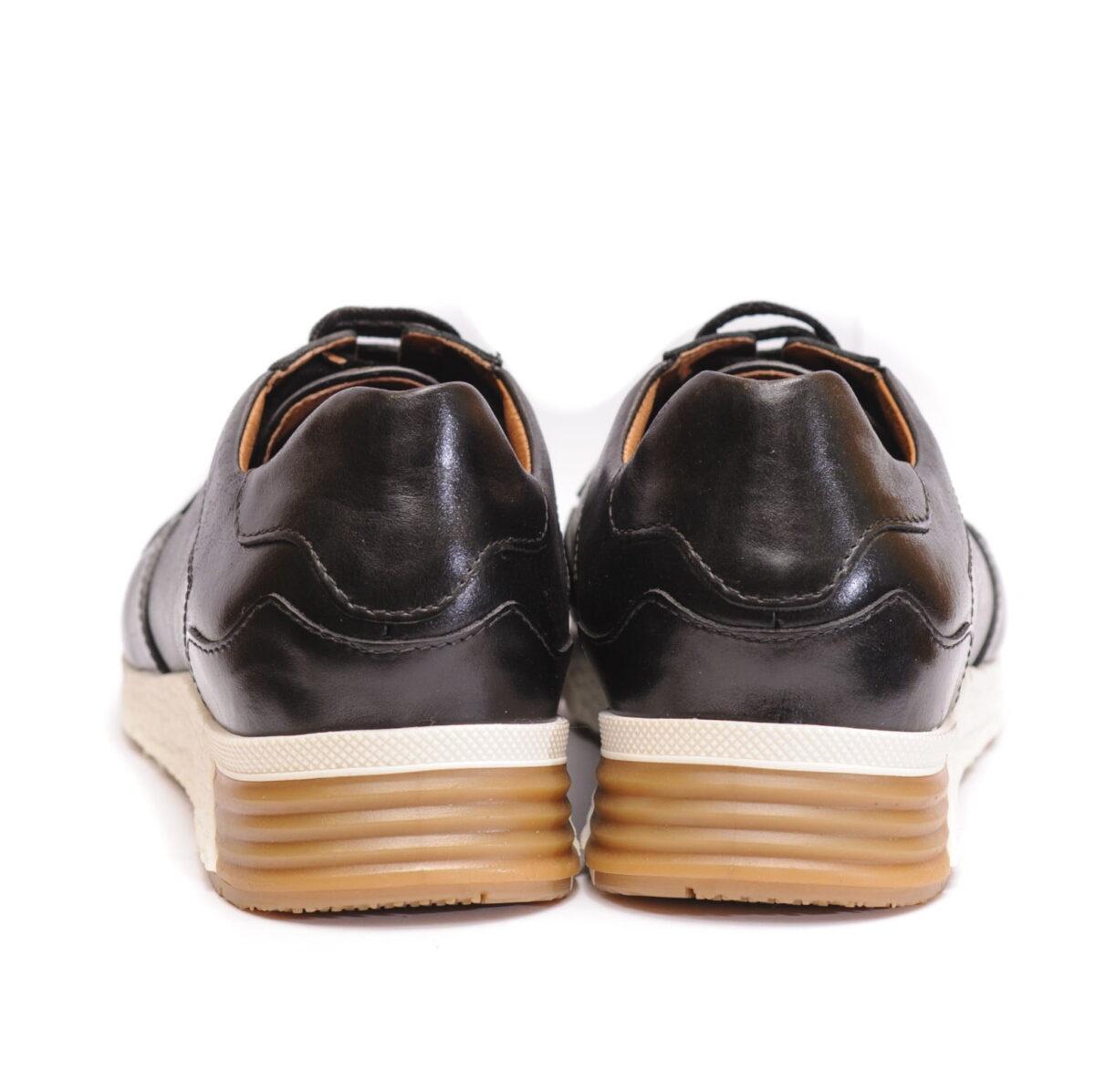 Αντρικό Sneaker Μαύρο με Άσπρη Κροκό Σόλα 2