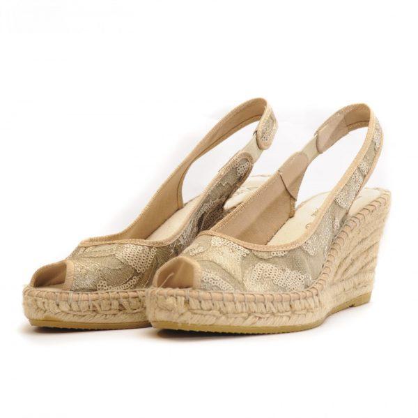Γυναικεία Παπούτσια Γυναικεία Peeptoe Εσπαντρίγια με Δαντέλα