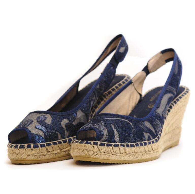 Γυναικεία Παπούτσια Γυναικεία Πλατφόρμα Εσπαντρίγια Με Δαντέλα