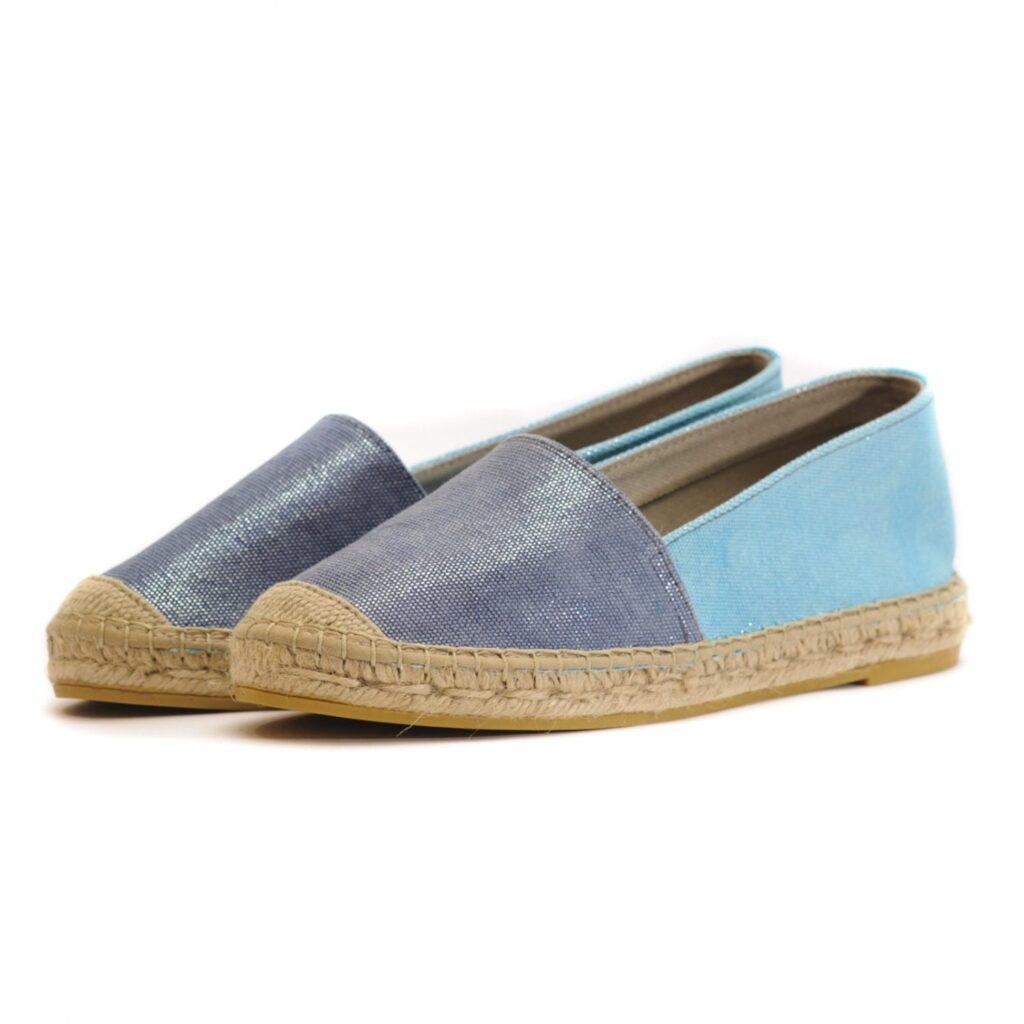 Γυναικεία Παπούτσια Flat Εσπαντρίγια με Ιριδίζον Χρώμα