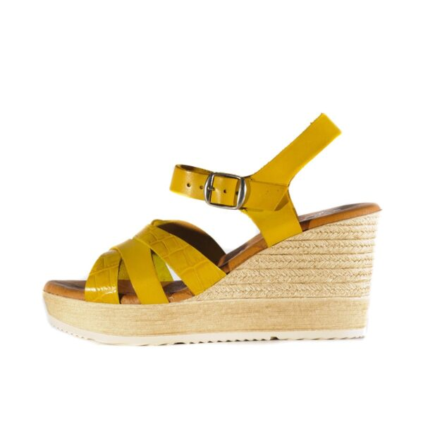 Γυναικεία Κίτρινη Πλατφόρμα