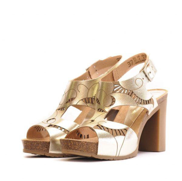 Γυναικείο High Heel Πέδιλο με Ασημί Μεταλλικό