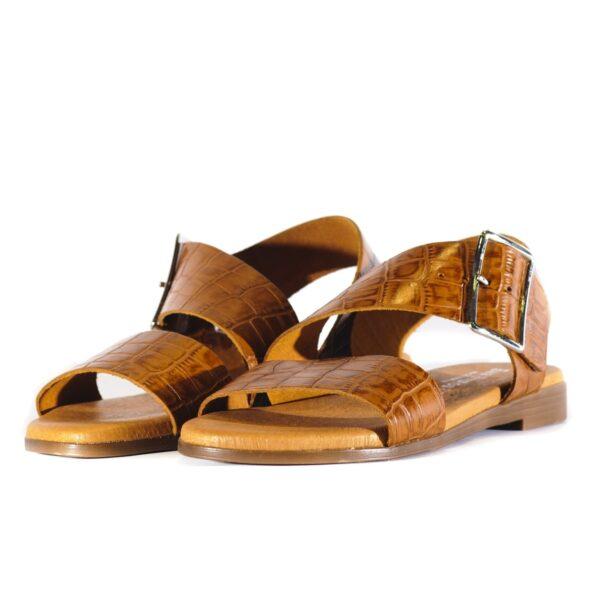Γυναικείο Croco Flat Σανδάλι