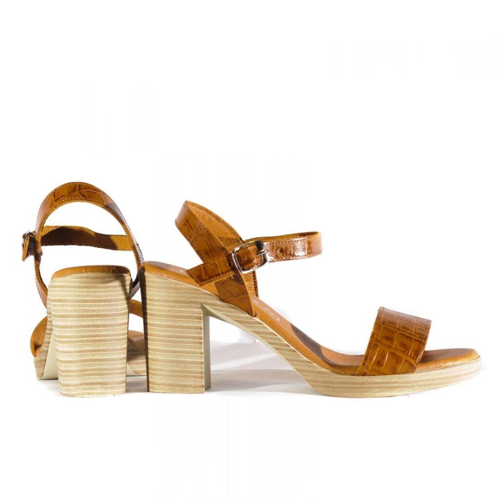 Γυναικεία Παπούτσια Γυναικείο Πέδιλο Κροκό με Λουράκι