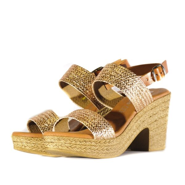 Γυναικεία Παπούτσια Γυναικείο Πέδιλο με Gold Μεταλλικές Αποχρώσεις