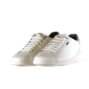 Ανδρικά Παπούτσια Αντρικό Sneaker White με Γκρι Λεπτομέρειες