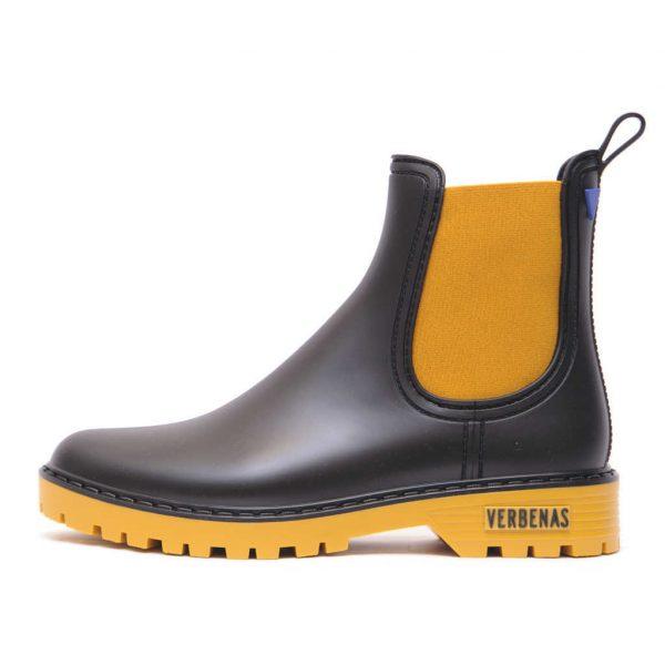 Γυναικεία Fashion Γαλότσα Κίτρινο – Μαύρο