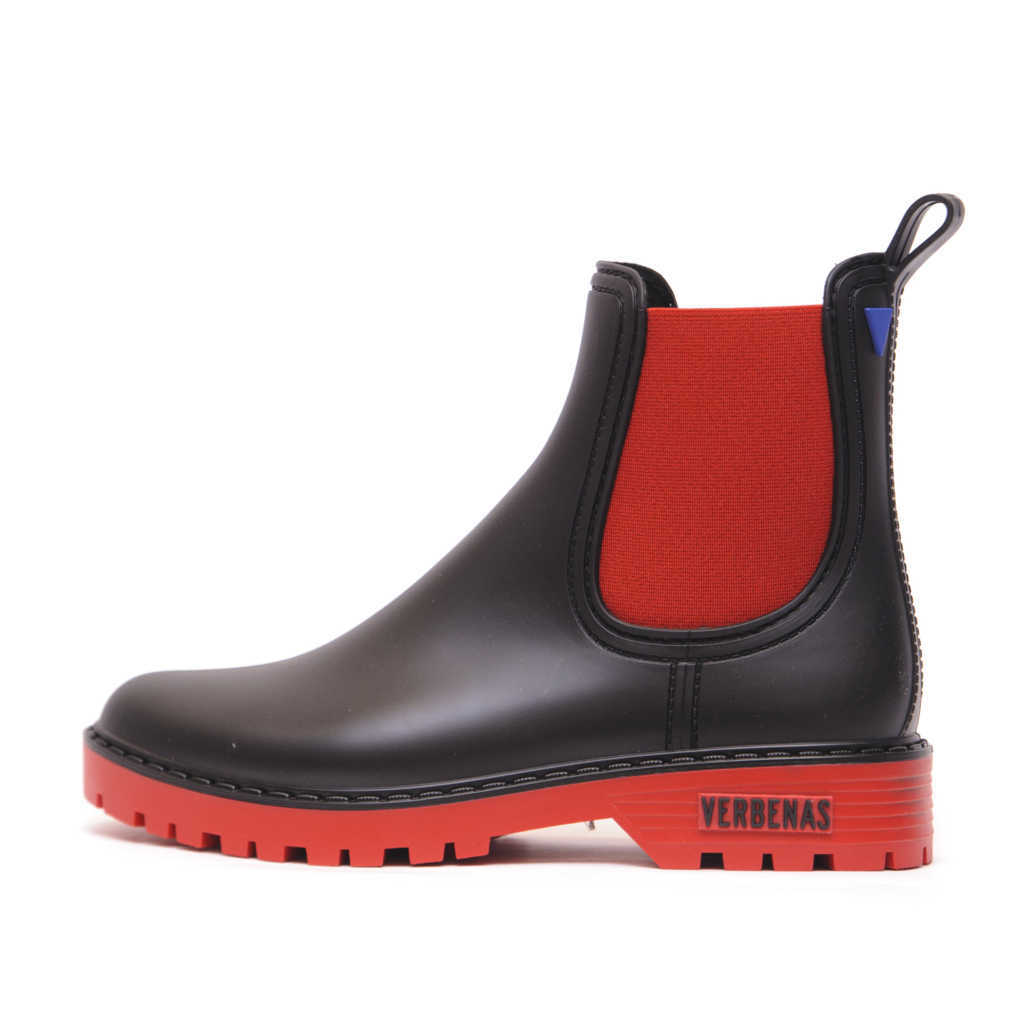 Γυναικεία Fashion Γαλότσα Κόκκινο – Μαύρο