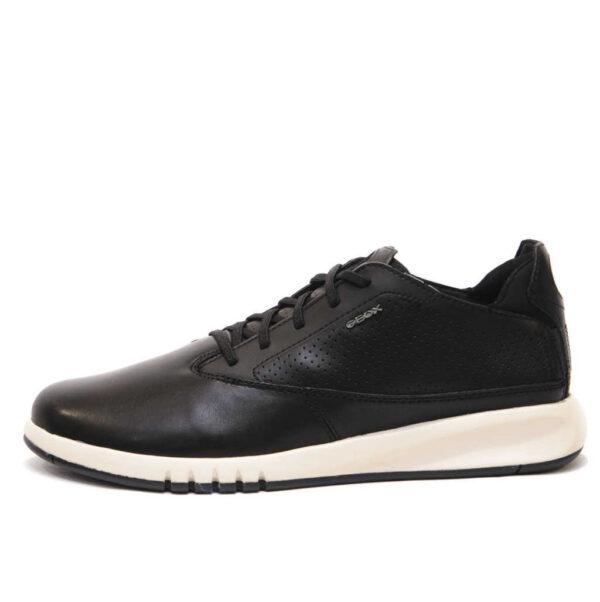 Geox Αντρικό Ασπρόμαυρο Sneakers με Aerantis Σόλα