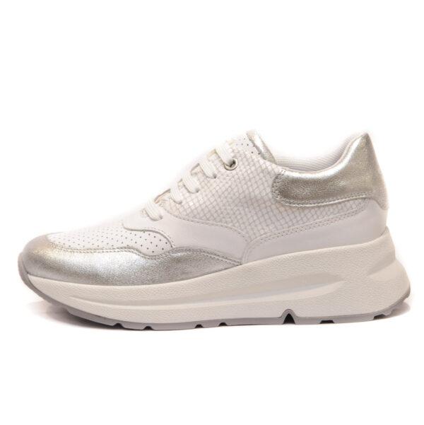 Geox Γυναικείο Sneakers με Ασημί Λεπτομέρειες