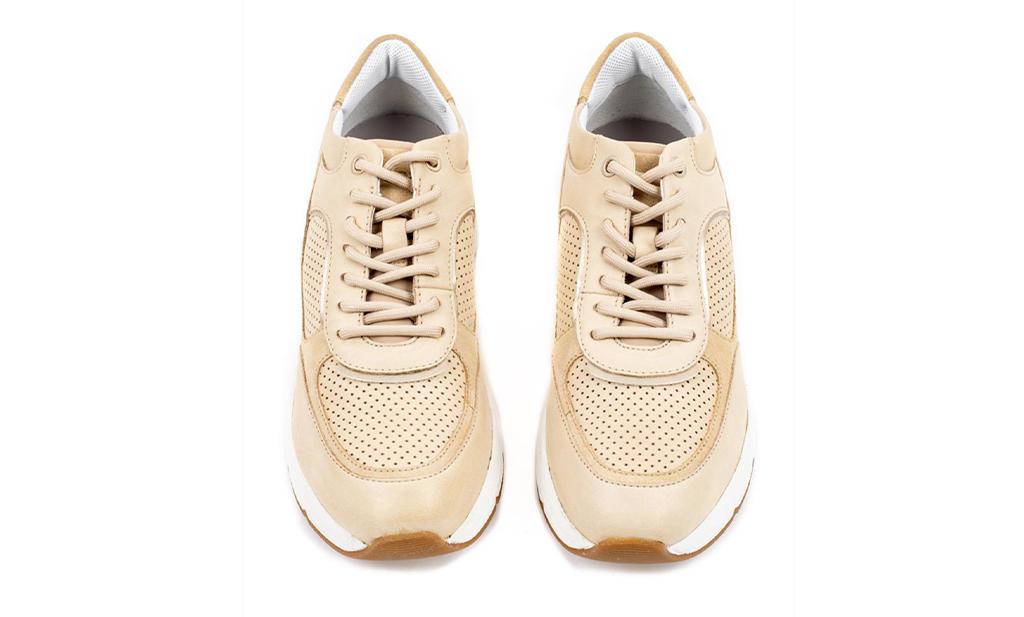 Geox Γυναικείο Sneaker σε Natural Αποχρώσεις