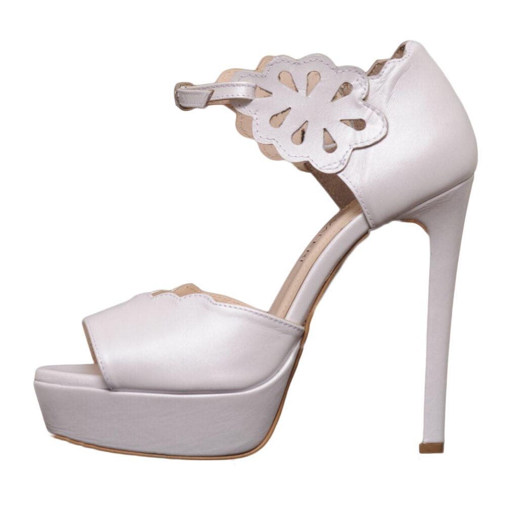 Gabriela Valeri Handmade Bridal Πέδιλο Laser Cut